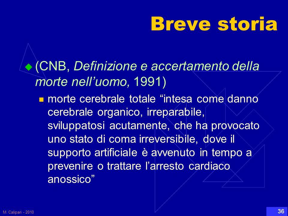 Breve storia (CNB, Definizione e accertamento della morte nell'uomo, 1991)