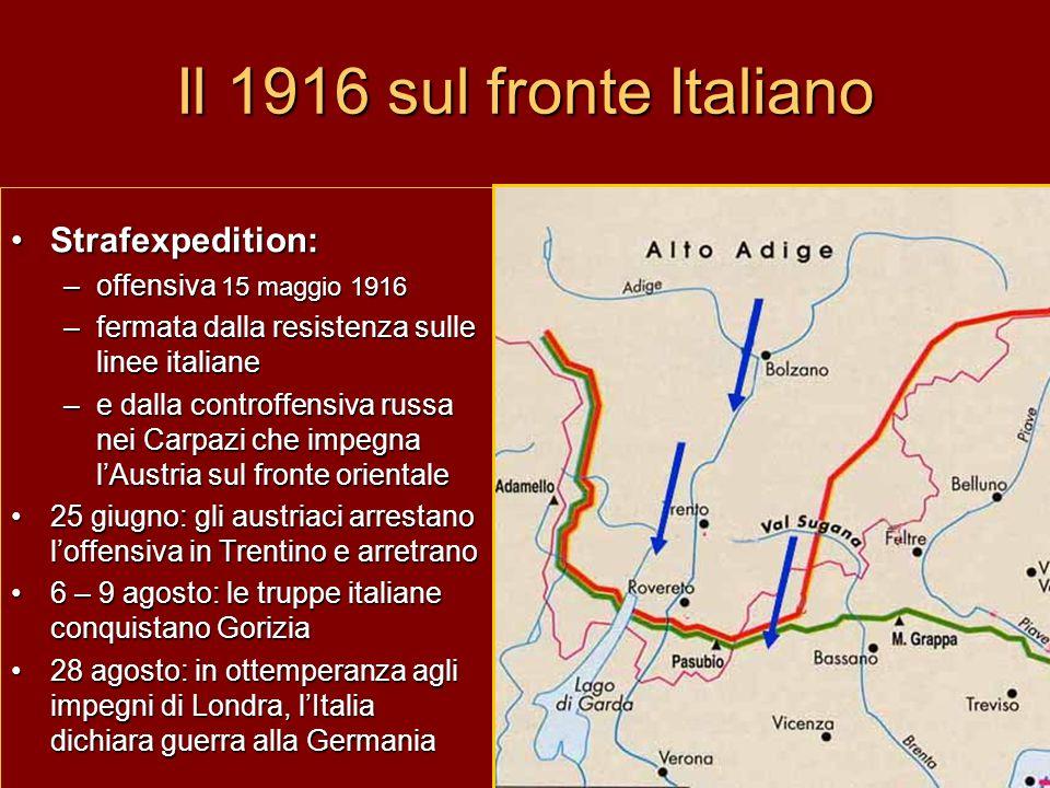 Il 1916 sul fronte Italiano Strafexpedition: offensiva 15 maggio 1916