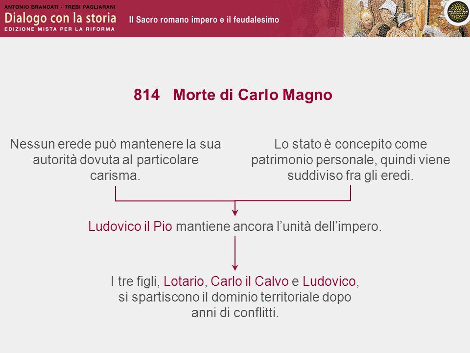 Ludovico il Pio mantiene ancora l'unità dell'impero.