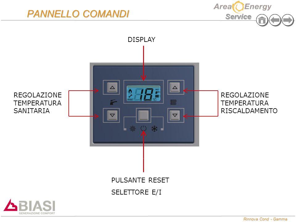 PANNELLO COMANDI DISPLAY REGOLAZIONE TEMPERATURA SANITARIA