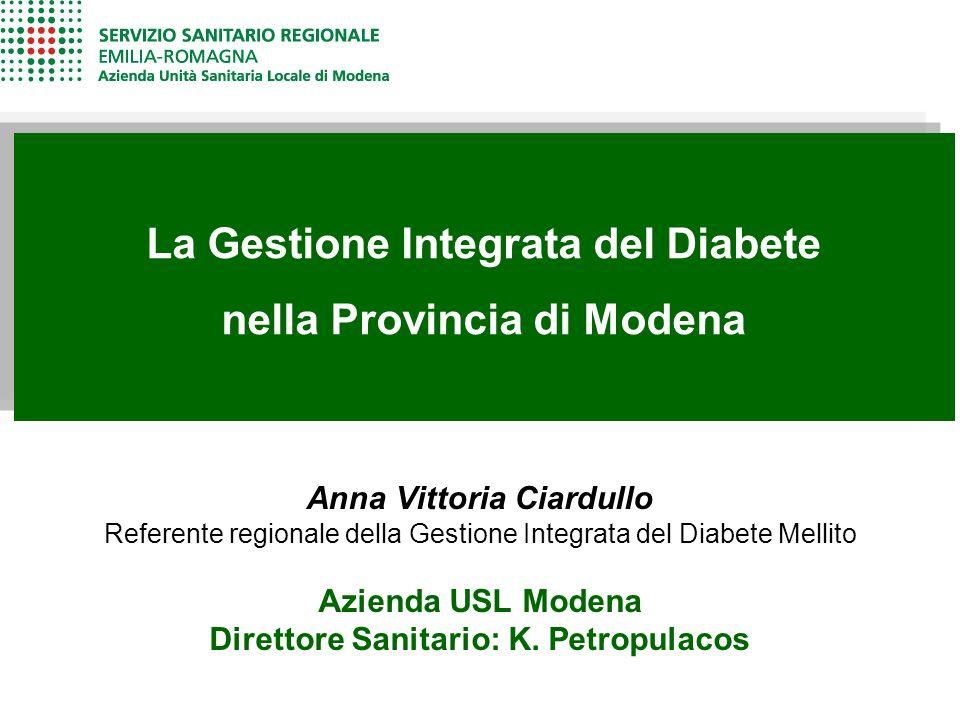 La Gestione Integrata del Diabete nella Provincia di Modena