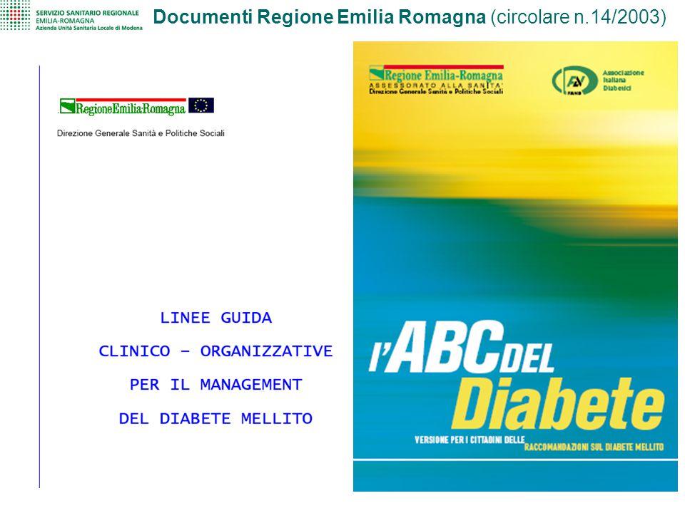 Documenti Regione Emilia Romagna (circolare n.14/2003)