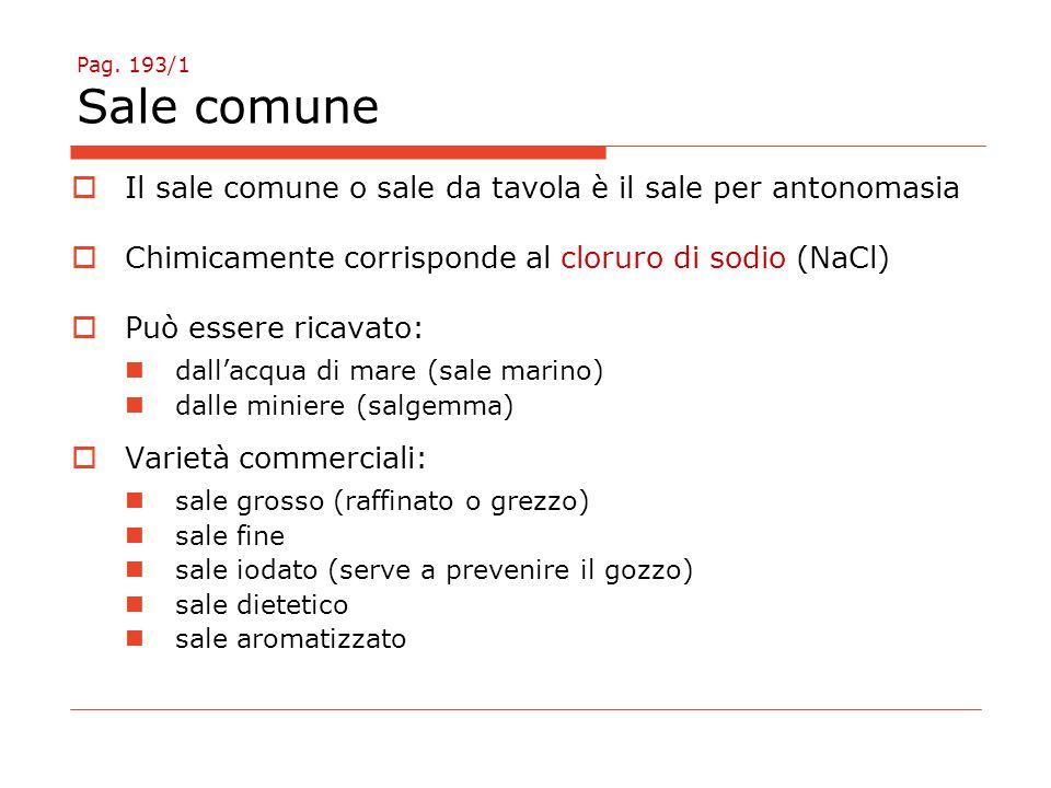 Il sale comune o sale da tavola è il sale per antonomasia