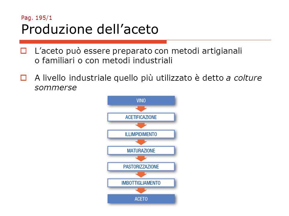 Pag. 195/1 Produzione dell'aceto