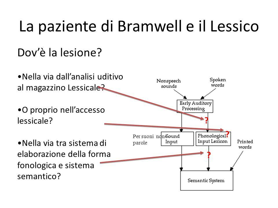 La paziente di Bramwell e il Lessico