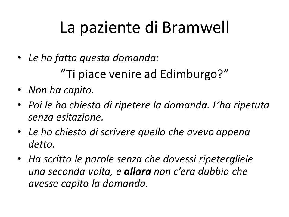 La paziente di Bramwell