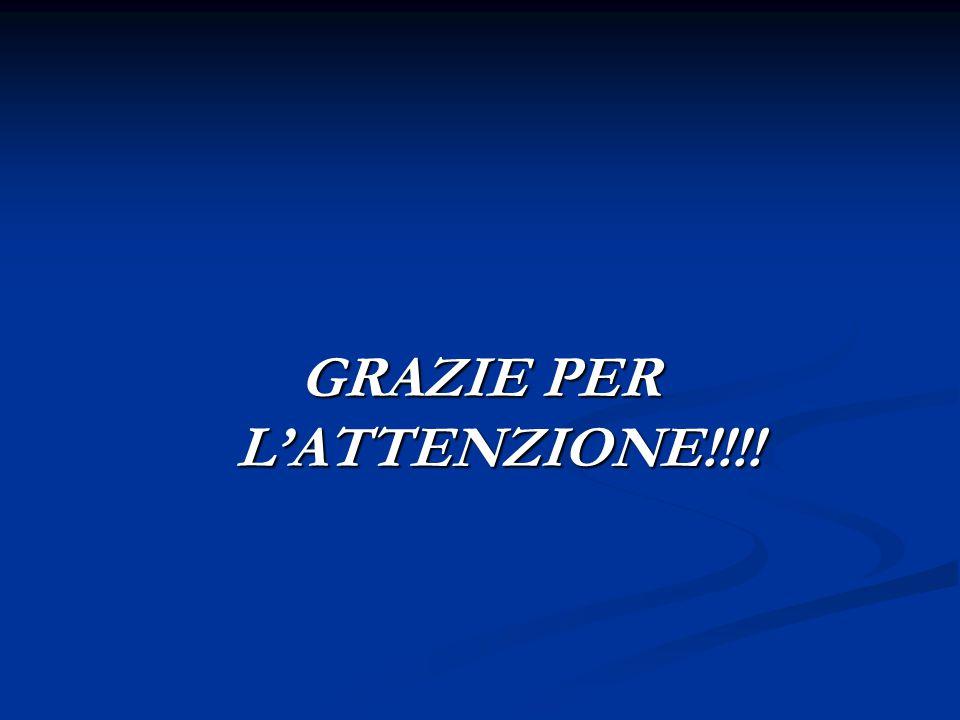 GRAZIE PER L'ATTENZIONE!!!!