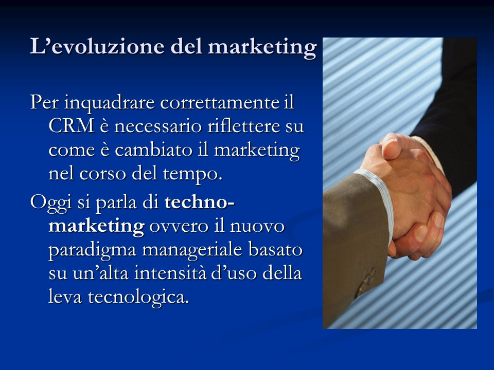 L'evoluzione del marketing
