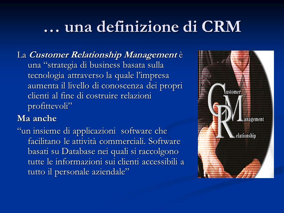 … una definizione di CRM