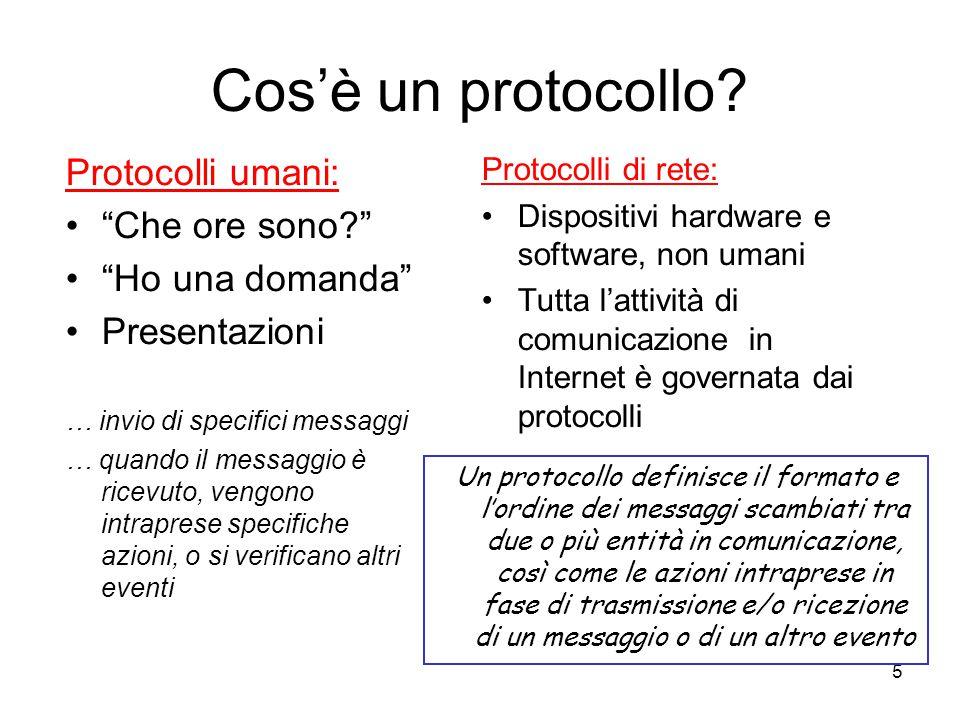 Cos'è un protocollo Protocolli umani: Che ore sono