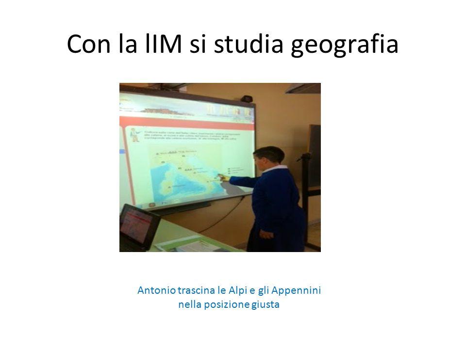 Con la lIM si studia geografia