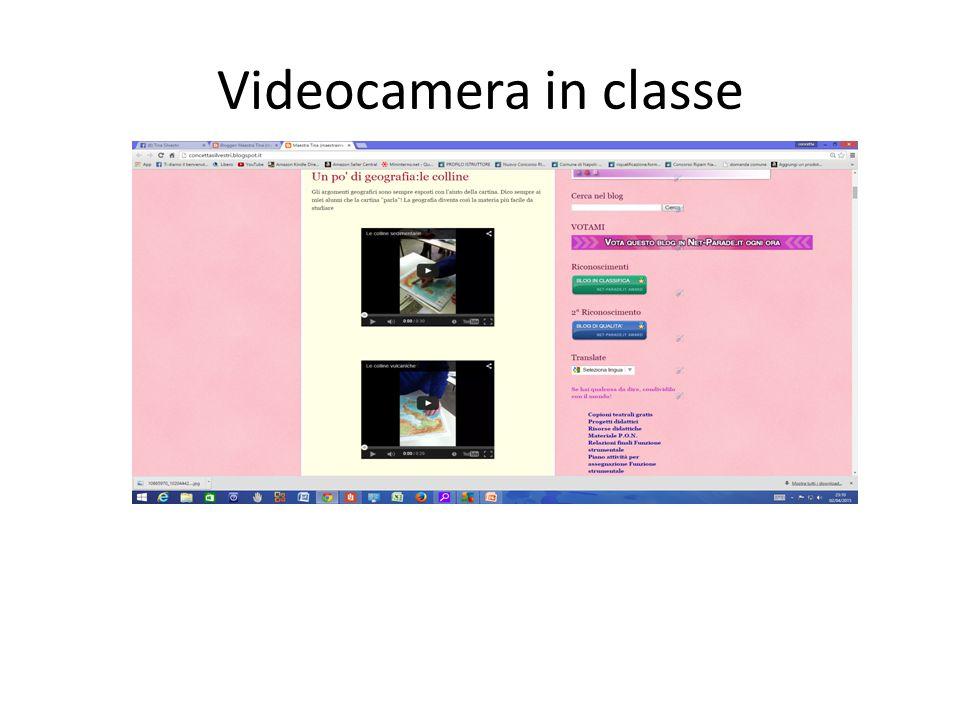 Videocamera in classe