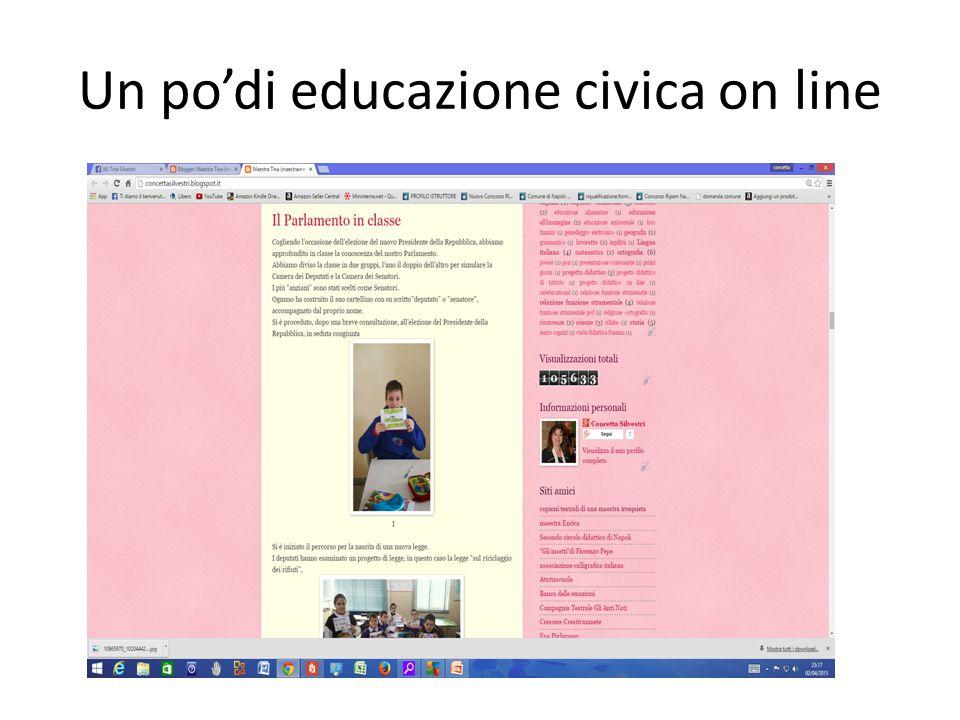 Un po'di educazione civica on line