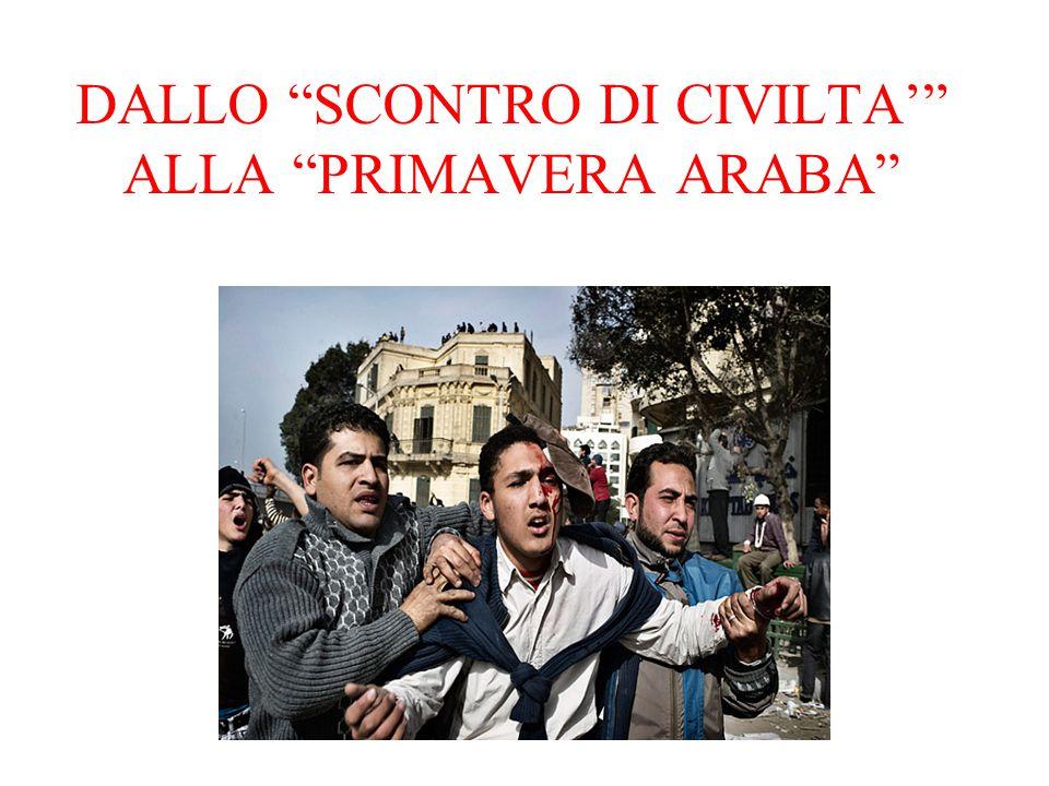DALLO SCONTRO DI CIVILTA' ALLA PRIMAVERA ARABA
