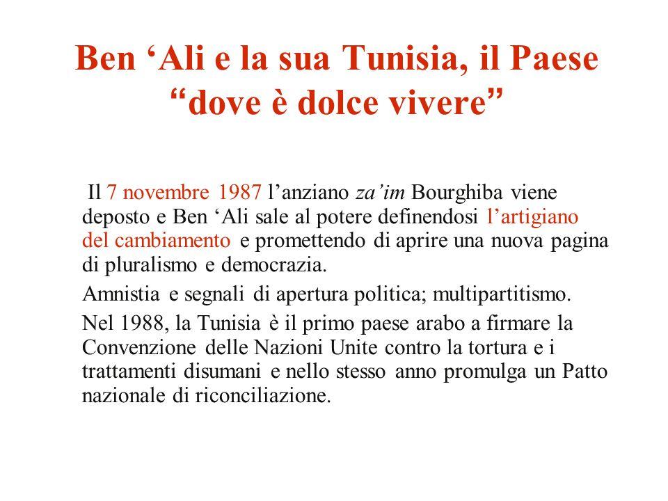 Ben 'Ali e la sua Tunisia, il Paese dove è dolce vivere