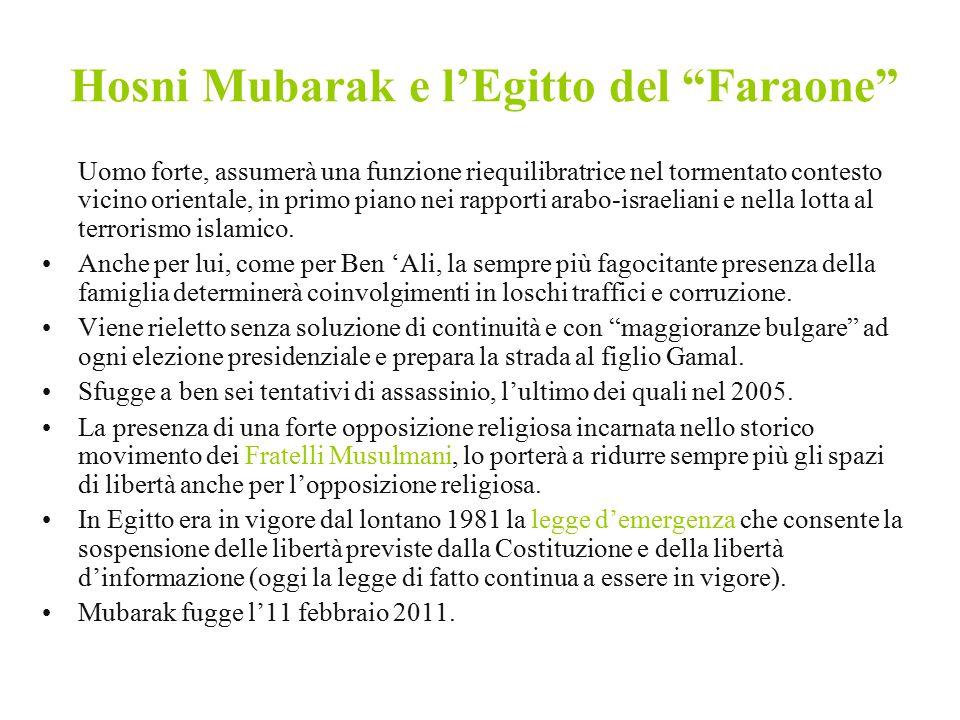 Hosni Mubarak e l'Egitto del Faraone