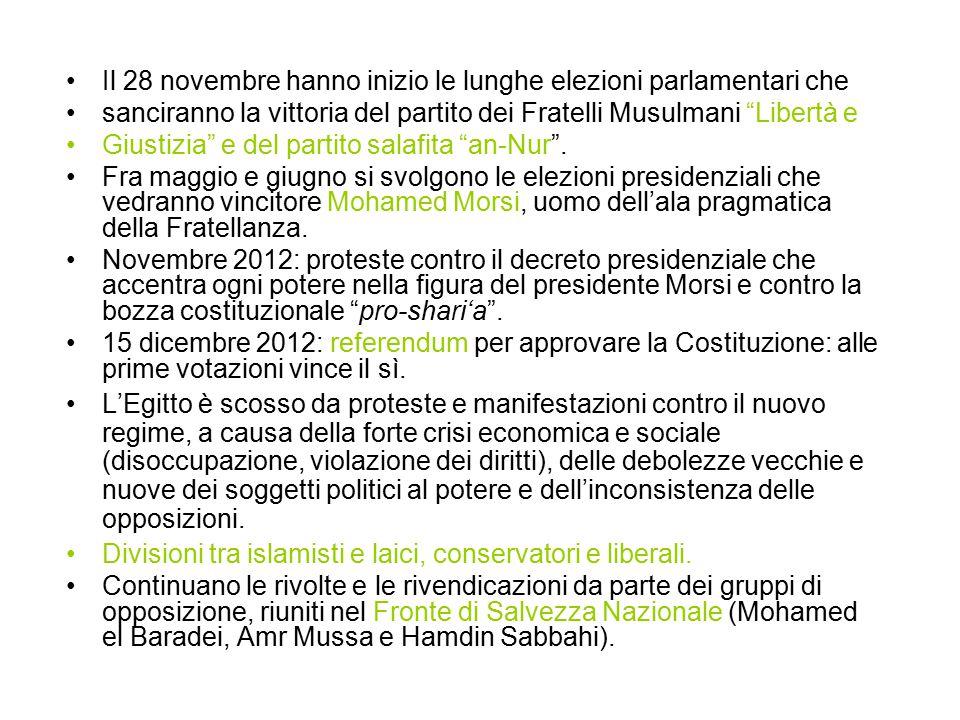 Il 28 novembre hanno inizio le lunghe elezioni parlamentari che