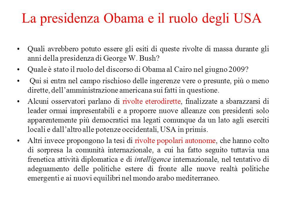 La presidenza Obama e il ruolo degli USA