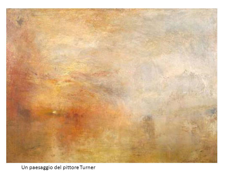 Un paesaggio del pittore Turner
