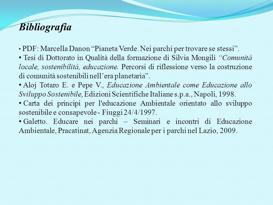 Bibliografia PDF: Marcella Danon Pianeta Verde. Nei parchi per trovare se stessi .