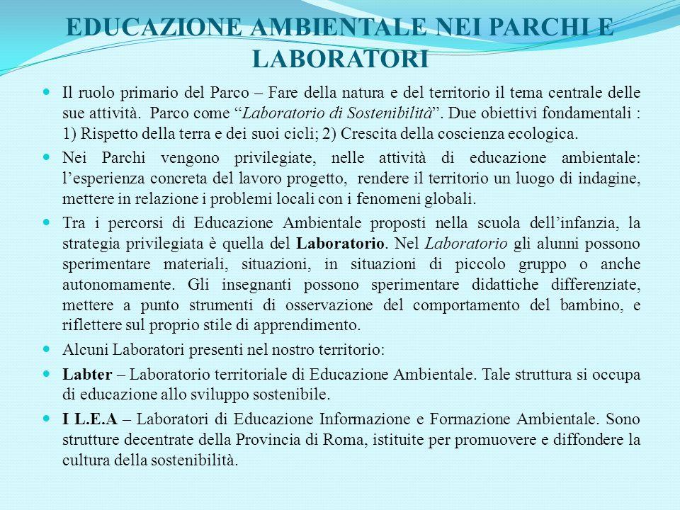 EDUCAZIONE AMBIENTALE NEI PARCHI E LABORATORI