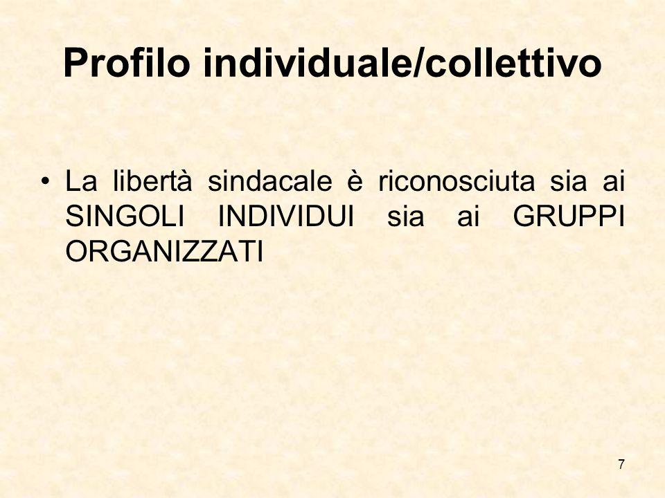Profilo individuale/collettivo