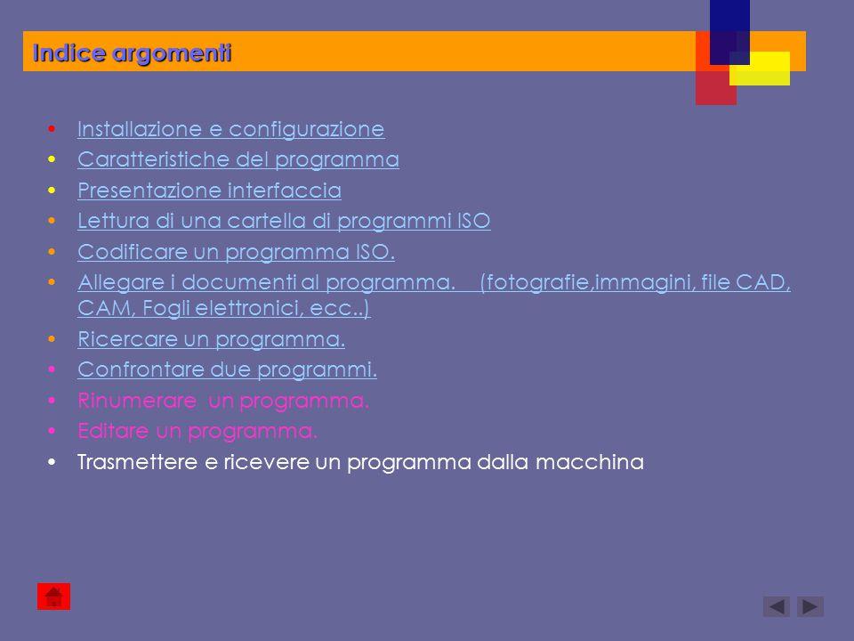 Indice argomenti Installazione e configurazione