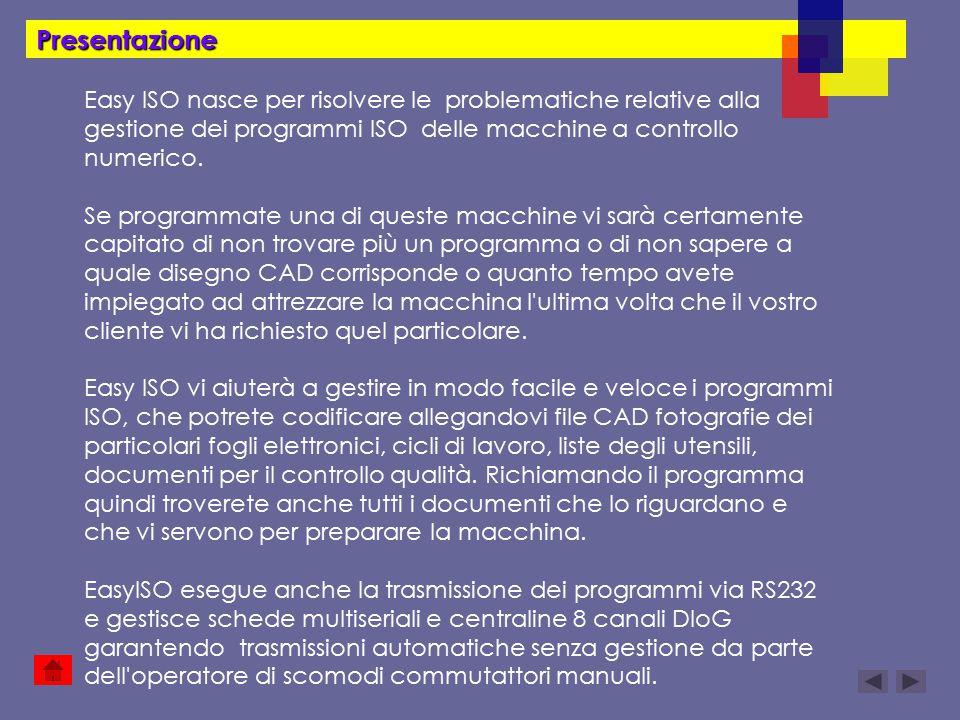 Presentazione Easy ISO nasce per risolvere le problematiche relative alla gestione dei programmi ISO delle macchine a controllo numerico.
