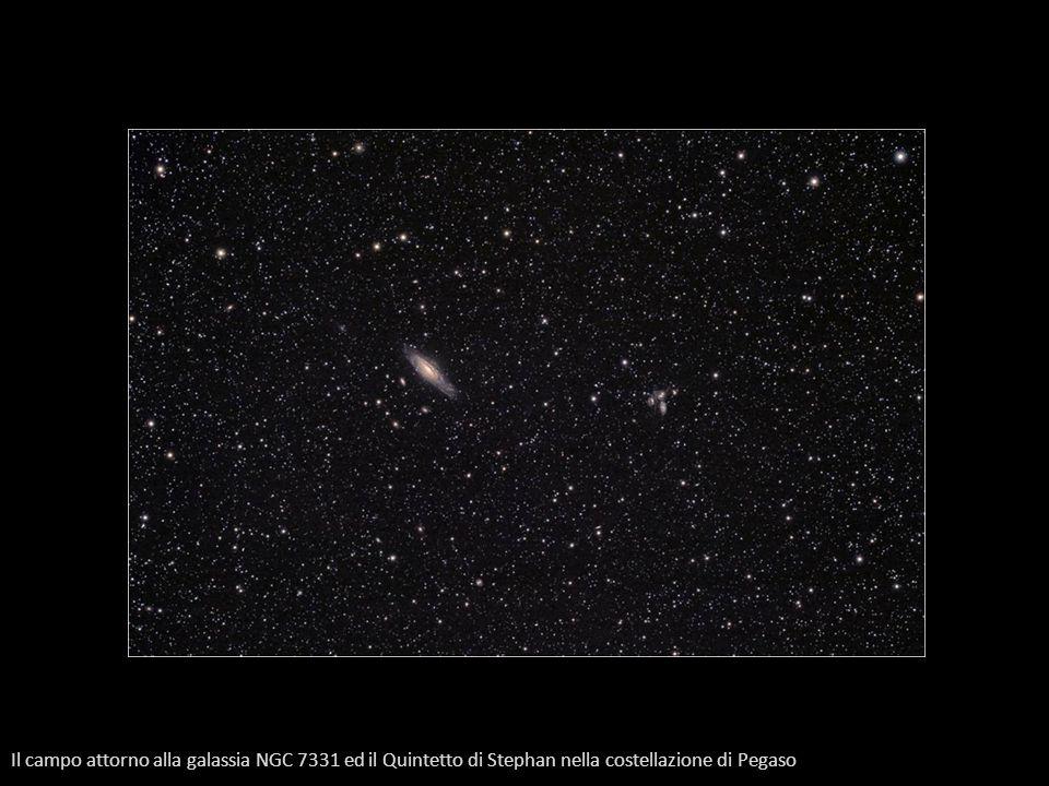 Il campo attorno alla galassia NGC 7331 ed il Quintetto di Stephan nella costellazione di Pegaso