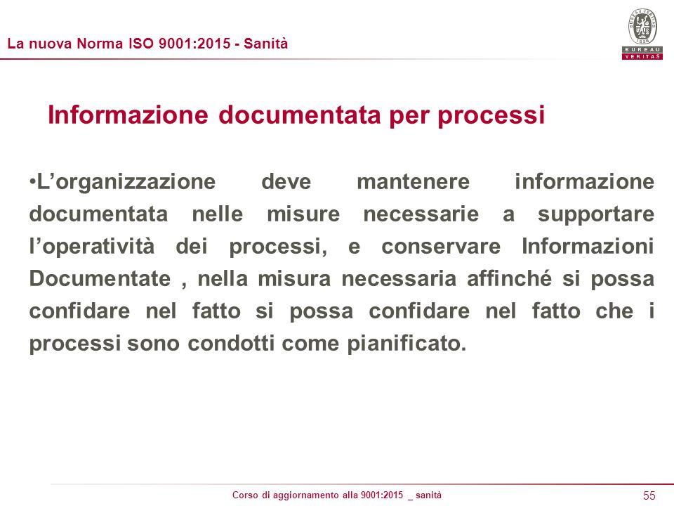 Informazione documentata per processi