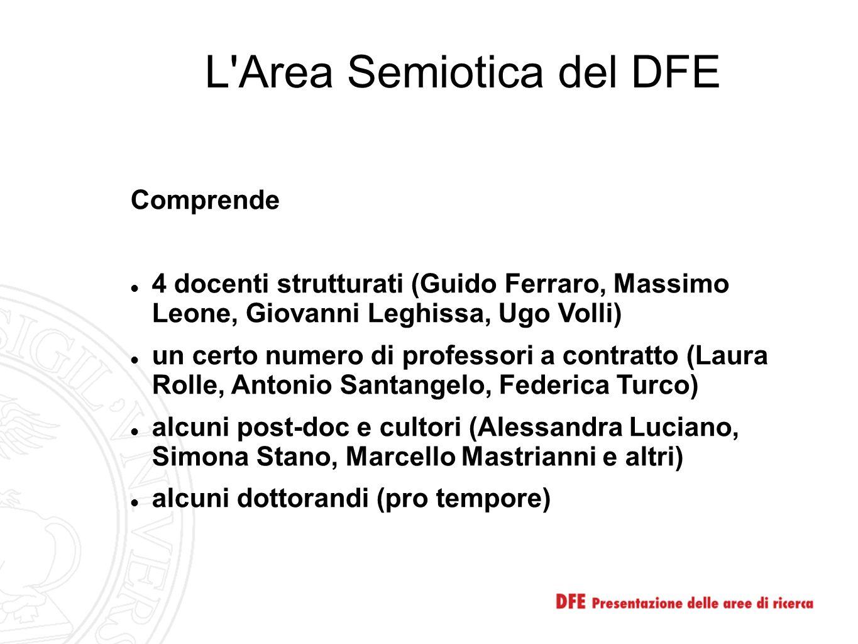 L Area Semiotica del DFE