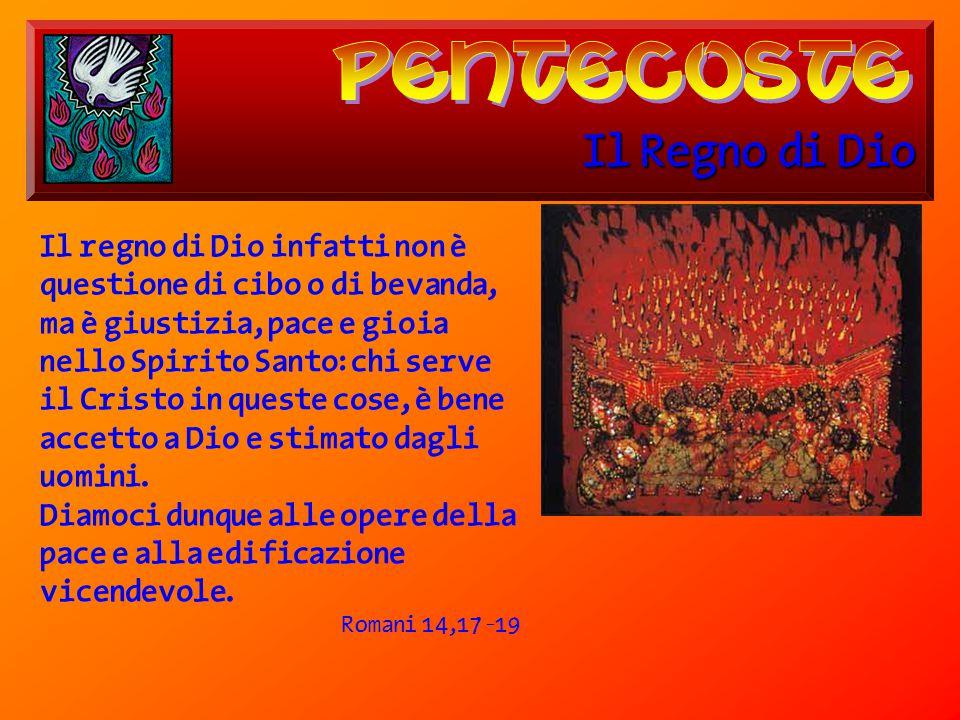 pentecoste Il Regno di Dio