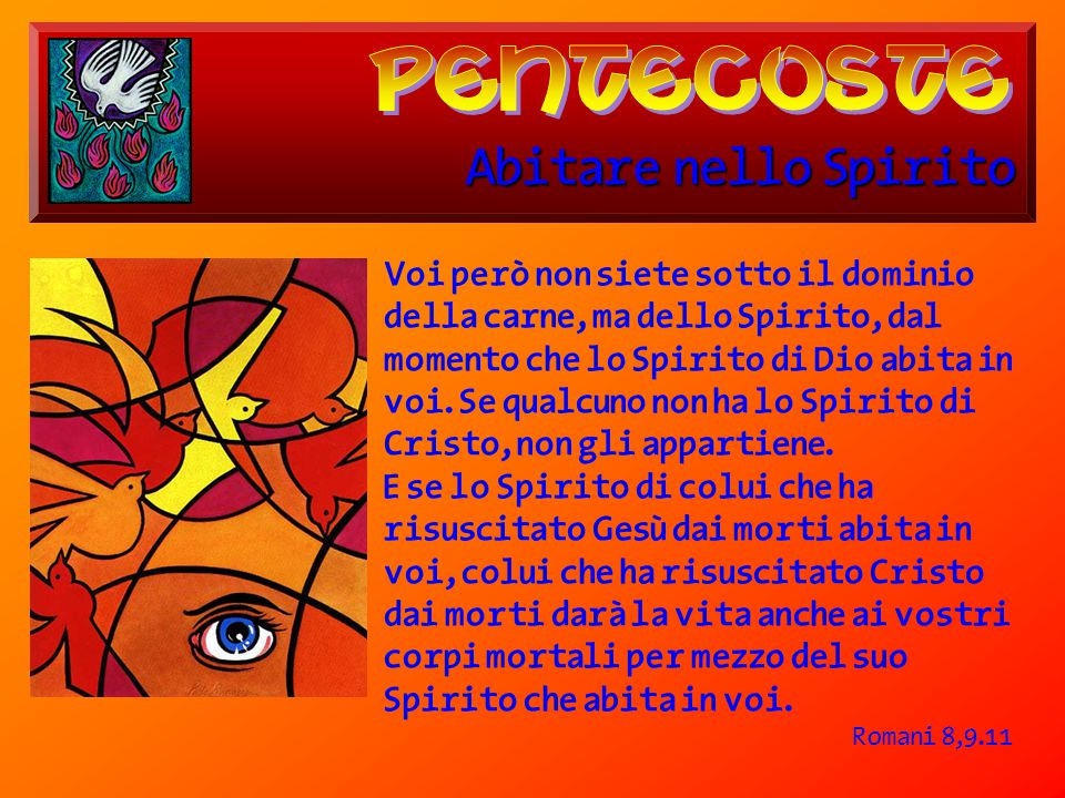 pentecoste Abitare nello Spirito