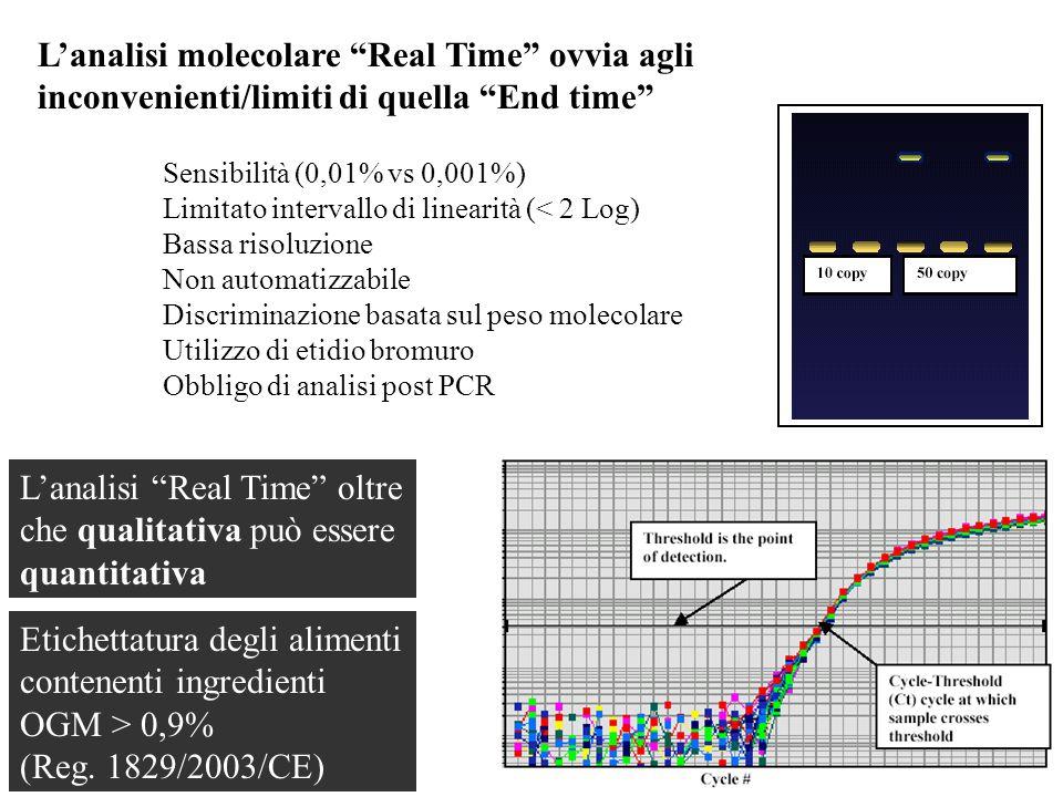 L'analisi Real Time oltre che qualitativa può essere quantitativa