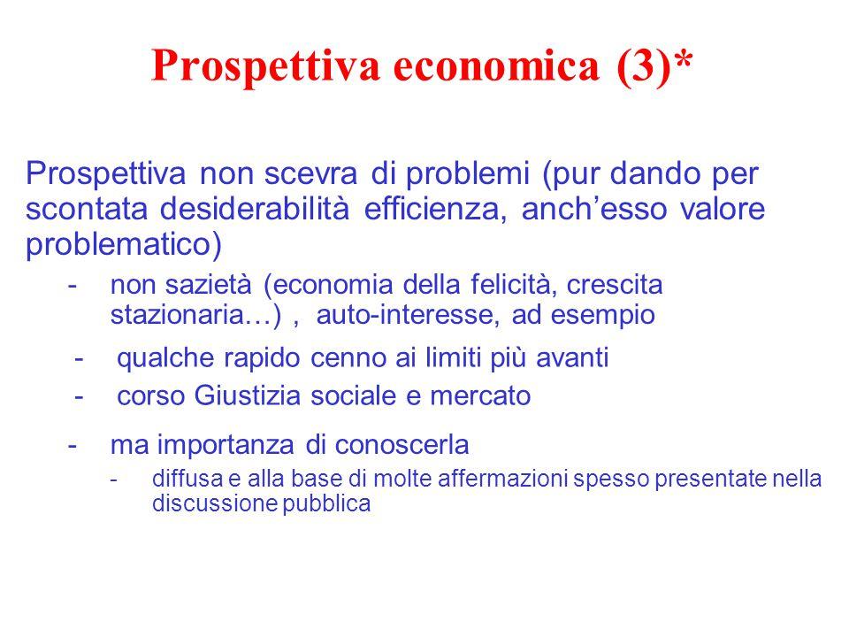 Prospettiva economica (3)*