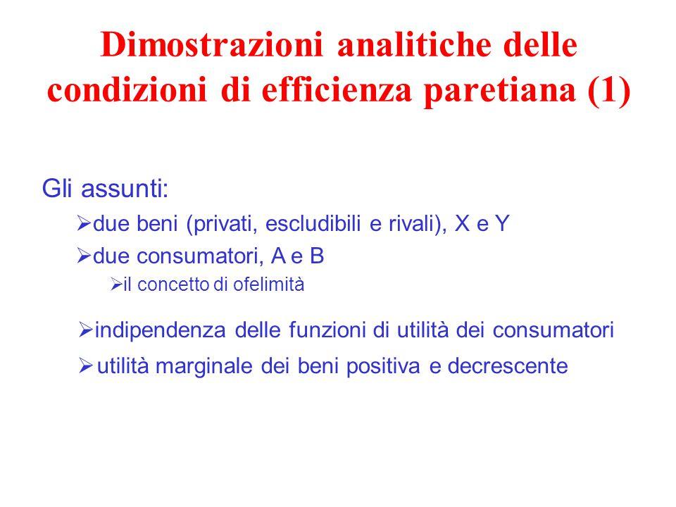 Dimostrazioni analitiche delle condizioni di efficienza paretiana (1)