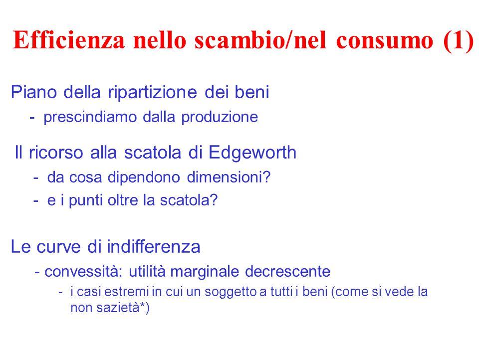 Efficienza nello scambio/nel consumo (1)
