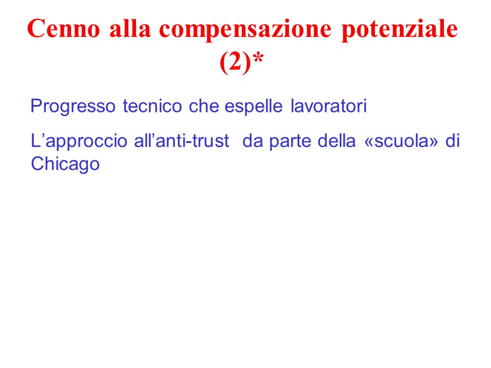 Cenno alla compensazione potenziale (2)*