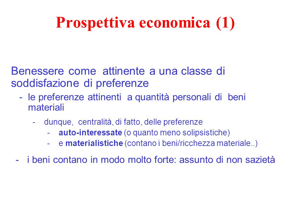 Prospettiva economica (1)