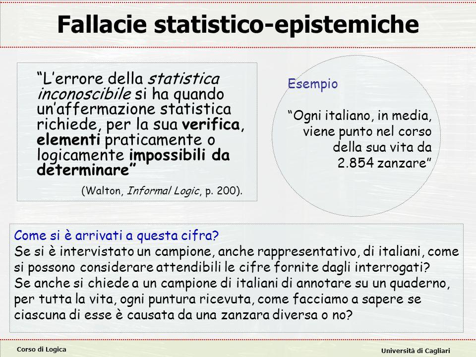 Fallacie statistico-epistemiche