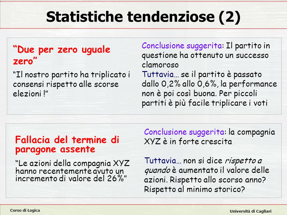Statistiche tendenziose (2)