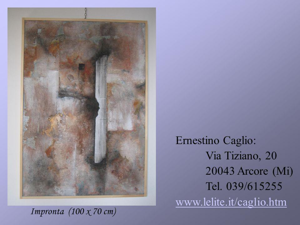Ernestino Caglio: Via Tiziano, 20 20043 Arcore (Mi) Tel. 039/615255