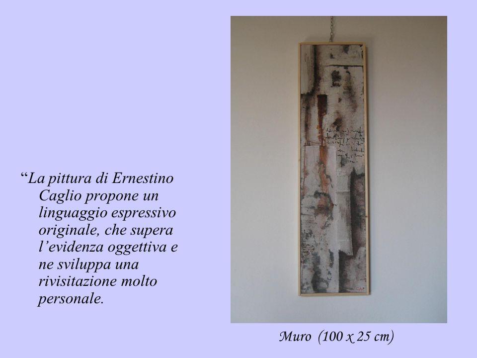 La pittura di Ernestino Caglio propone un linguaggio espressivo originale, che supera l'evidenza oggettiva e ne sviluppa una rivisitazione molto personale.