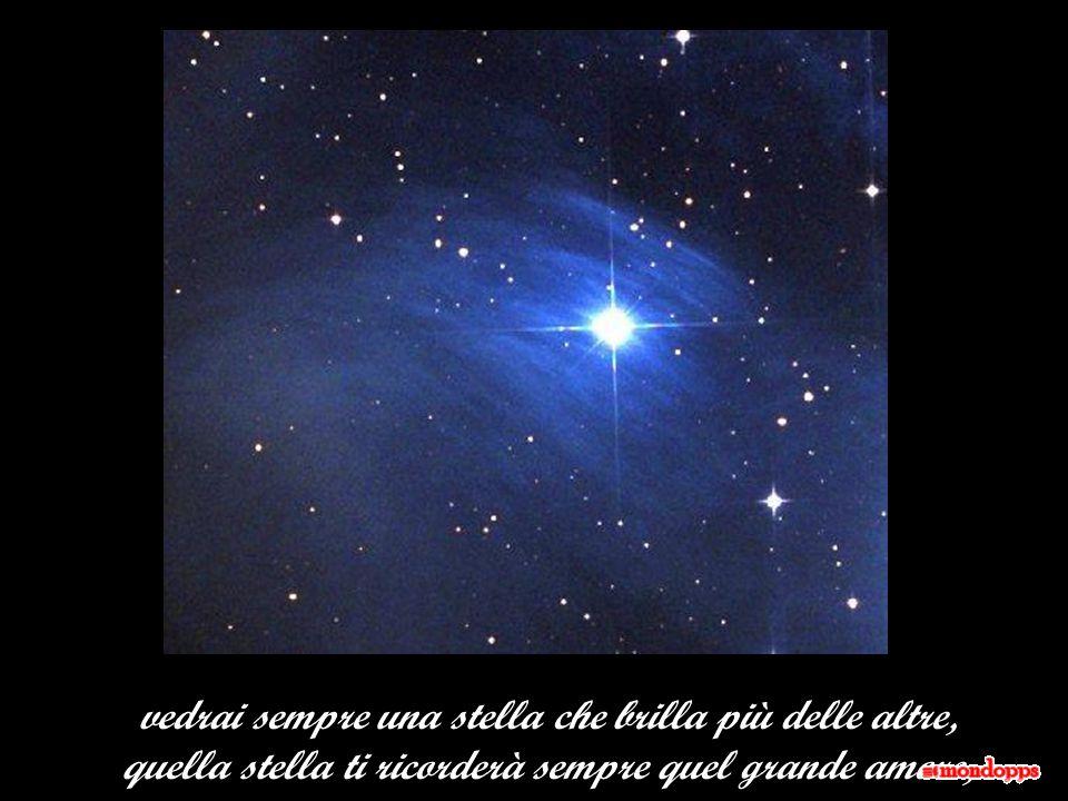 vedrai sempre una stella che brilla più delle altre,