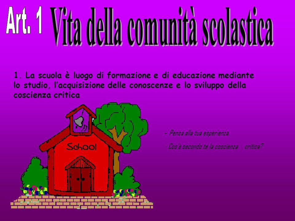 Vita della comunità scolastica