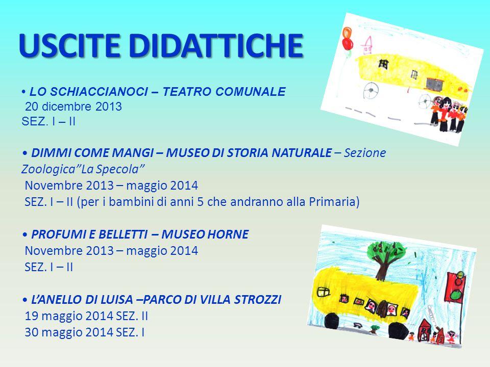 USCITE DIDATTICHE • LO SCHIACCIANOCI – TEATRO COMUNALE. 20 dicembre 2013. SEZ. I – II.