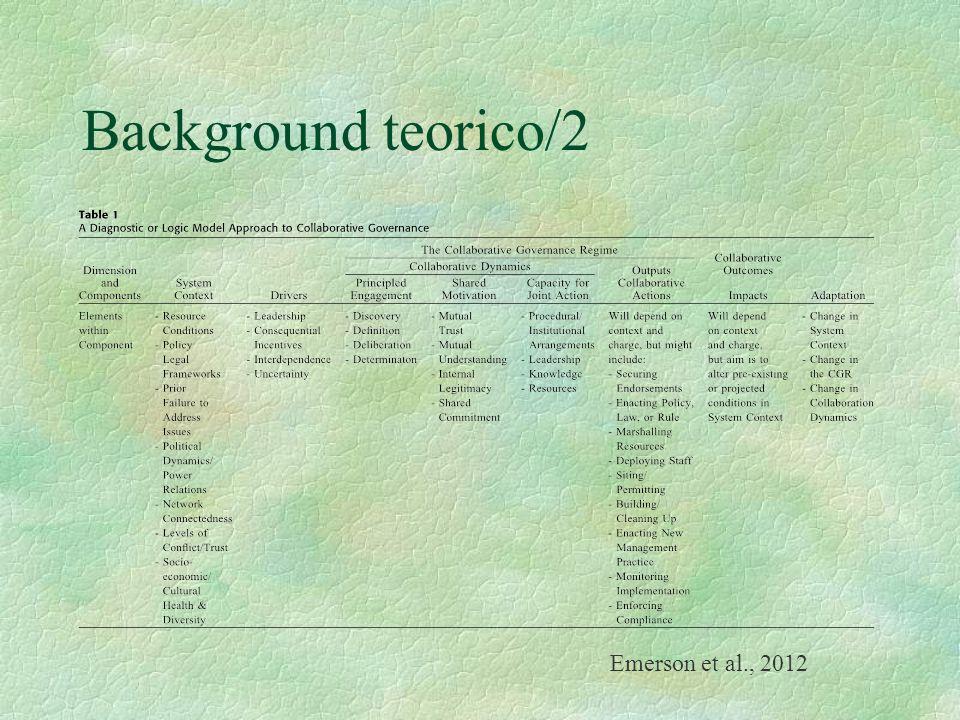 Background teorico/2 Emerson et al., 2012