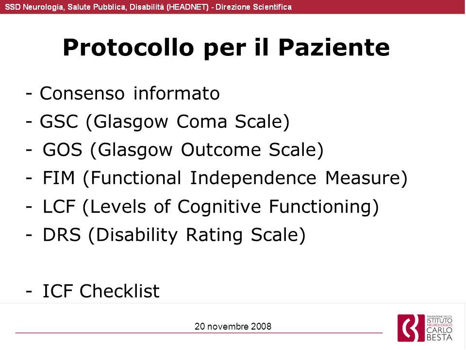 Protocollo per il Paziente