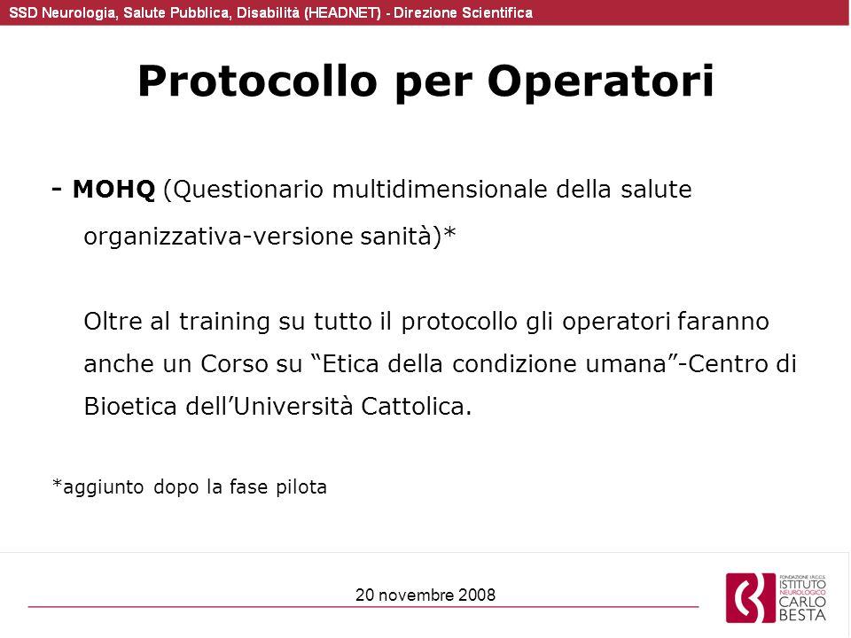 Protocollo per Operatori