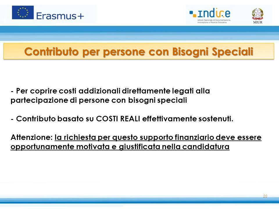 Contributo per persone con Bisogni Speciali